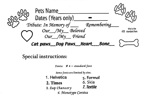 pet memorials suggestions for cats dogs or other pets